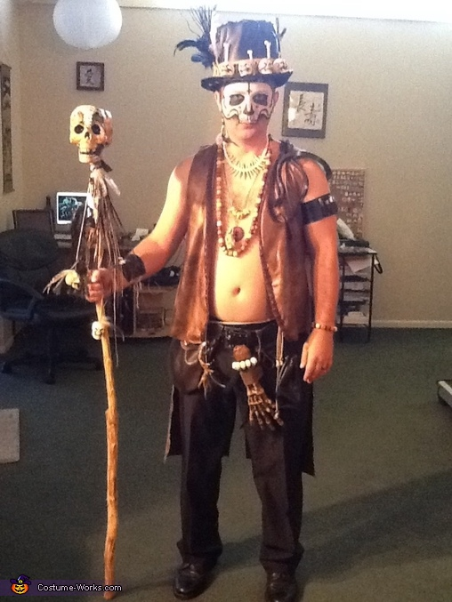 Front shot, Voodoo Baron Samedi and Madame Brigitte Costume