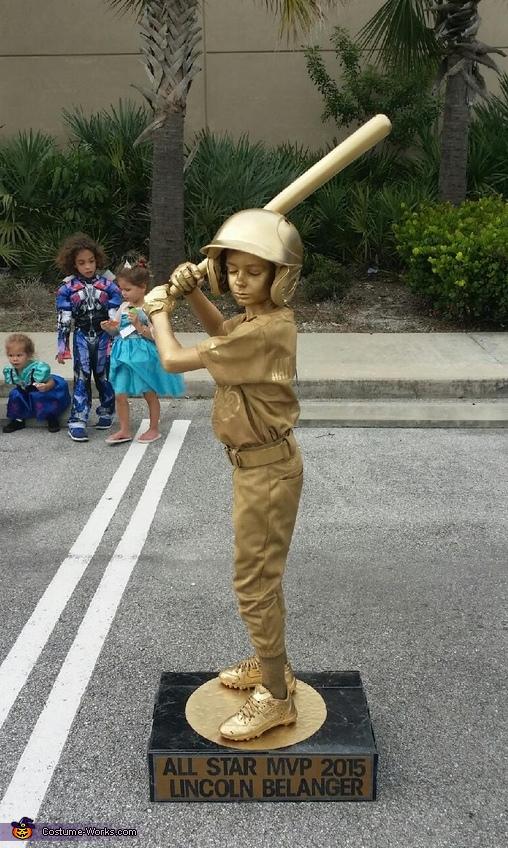 Baseball Trophy Boy's Homemade Costume