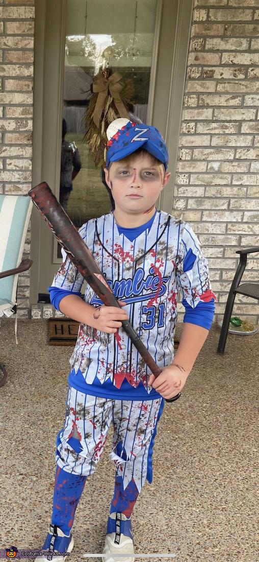 Baseball Zombie Homemade Costume