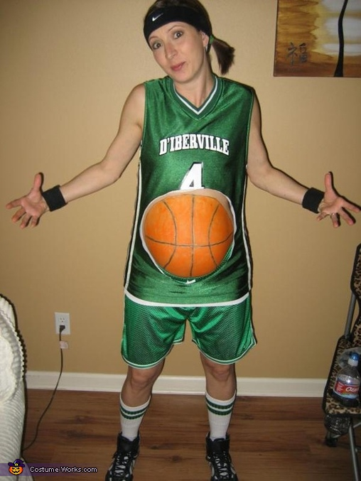 Basketball Player Costume for Pregnant Women