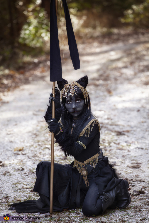 Sitting, Bastet Egyptian Goddess Costume