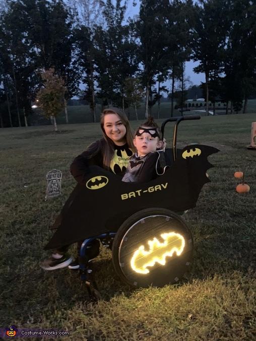 Bat-Gav with his biggest fan, mommy, Bat-Gav Costume