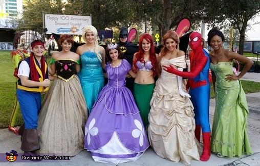 Batman and group of friends., Batman Costume