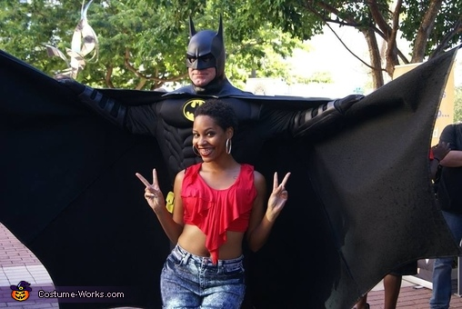 Batman with a fan., Batman Costume