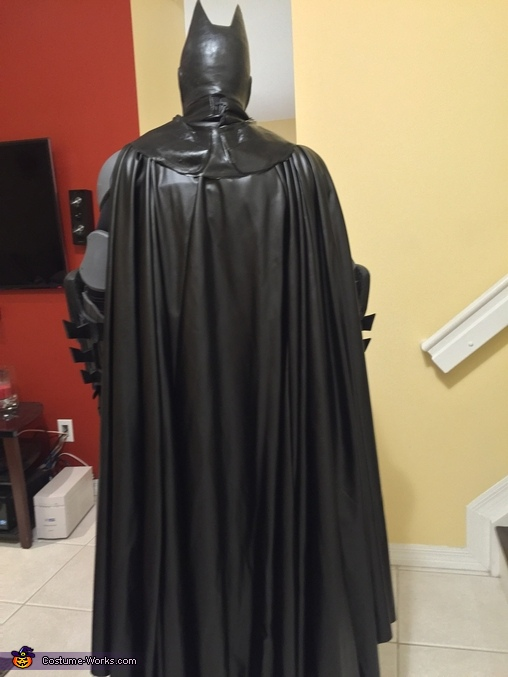 View of the cape, Batman Costume