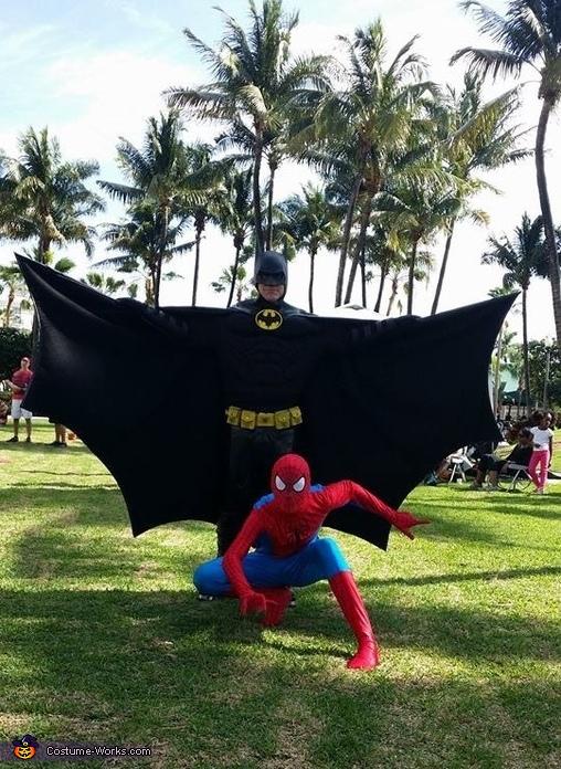 Batman and Spidey., Batman Costume