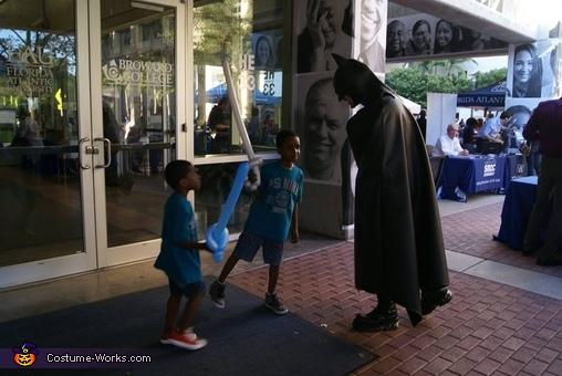 Curious kids., Batman Costume