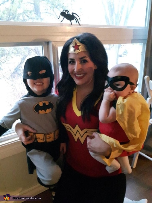 Wonder Woman and her sidekicks, Batman and Robin Costume