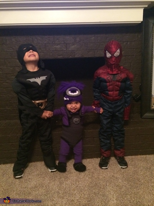 Batman and Spiderman Costume