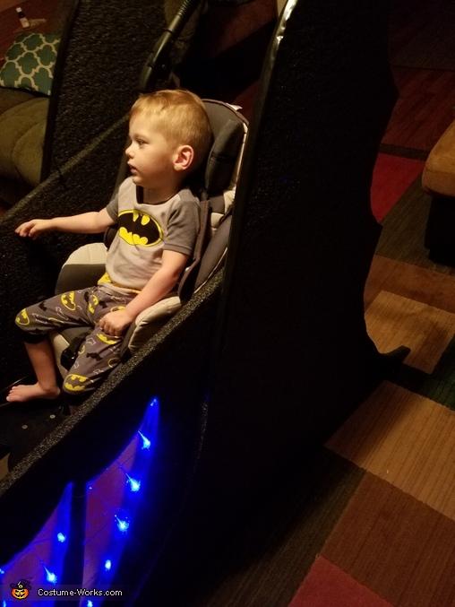 Batman and The Batmobile Homemade Costume