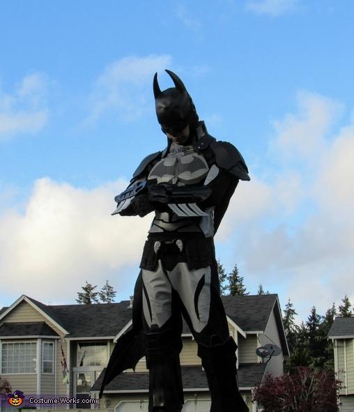 Checking Instagram, Batman Arkham Knight Costume