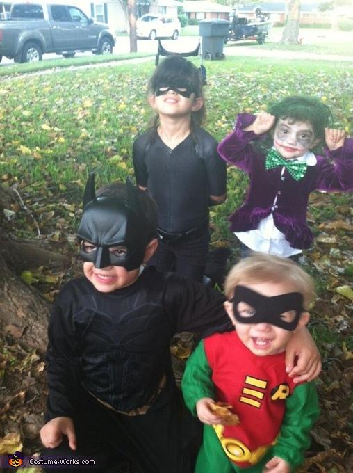 Batman, Catwomen, Robin and Joker Costume