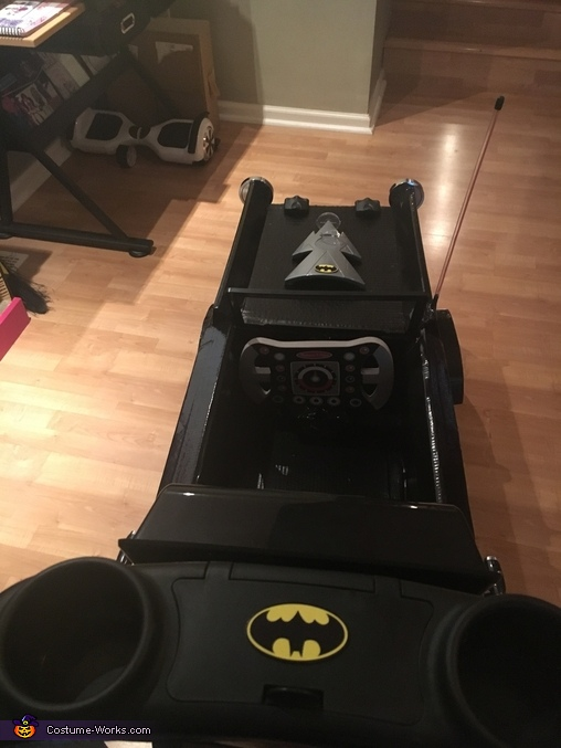 Batman in Batmobile with Joker Homemade Costume