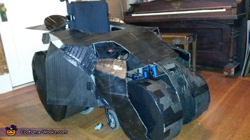 Batman in his Batmobile Homemade Costume