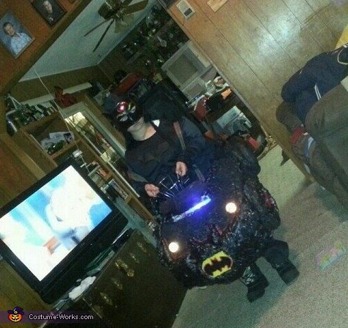 Batman in the Bat Mobile Costume