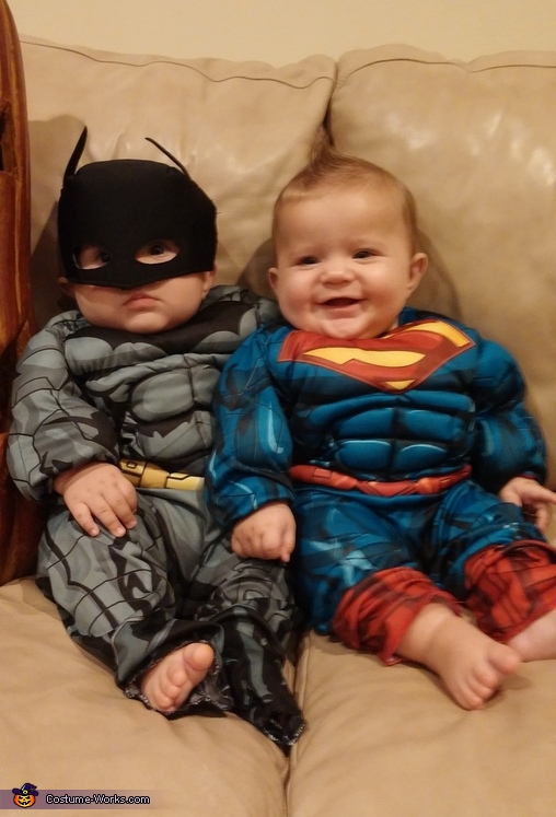 Batman & Superman Baby Costumes
