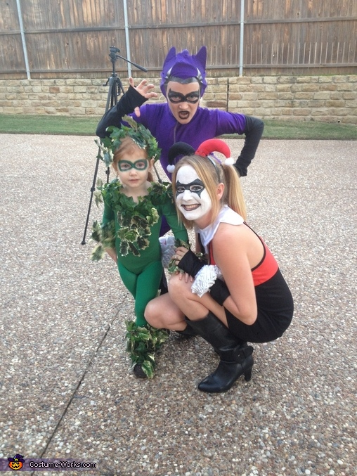 The girls, Batman Villains Family Costume