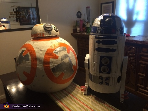 BB-8 and R2-D2 Homemade Kids Costume
