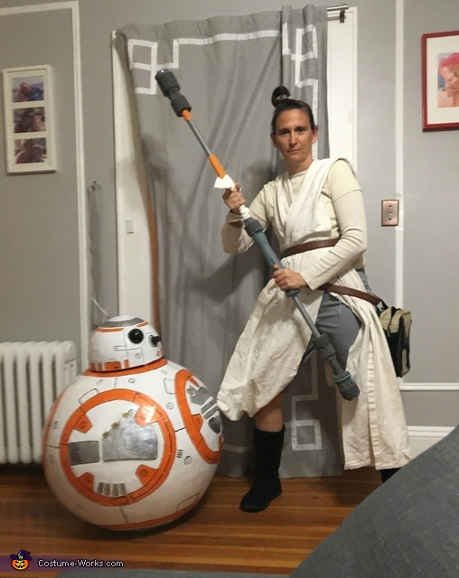With momy as Ray, BB-8 Costume