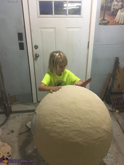 the sanding, BB-8 Costume