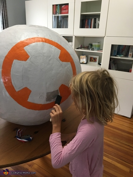 the painting, BB-8 Costume