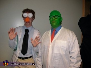 Beaker and Dr. Bunsen Honeydew from The Muppet Show Costume