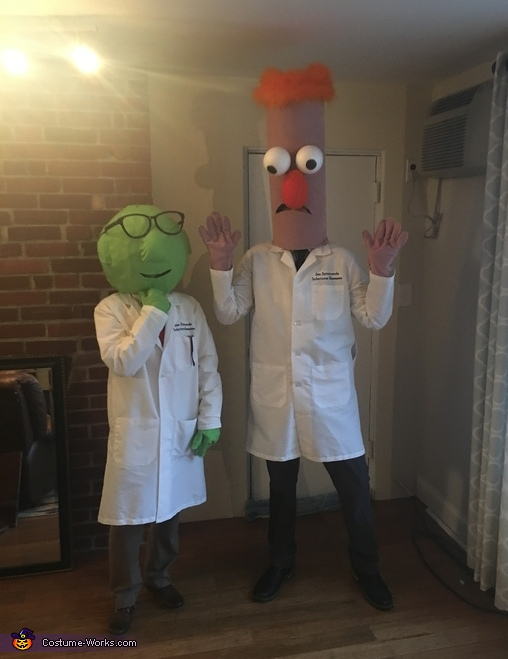 Beaker & Dr. Bunsen Honeydew Homemade Costume