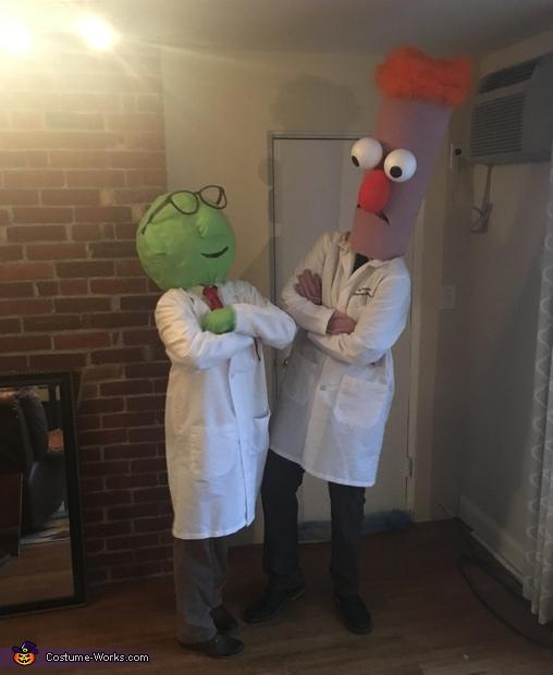 Beaker & Dr. Bunsen Honeydew Homemade Costume