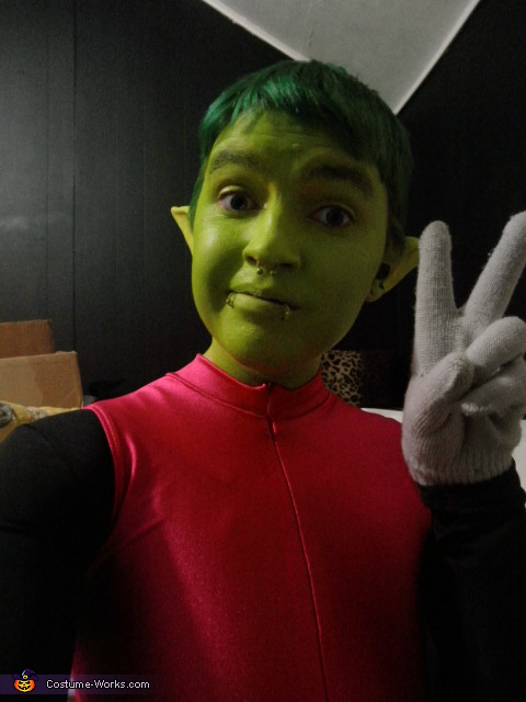 Beast Boy from the Teen Titans Homemade Costume