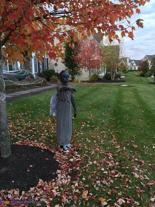 Best Halloween decoration!, Beautiful Weeping Angel Costume