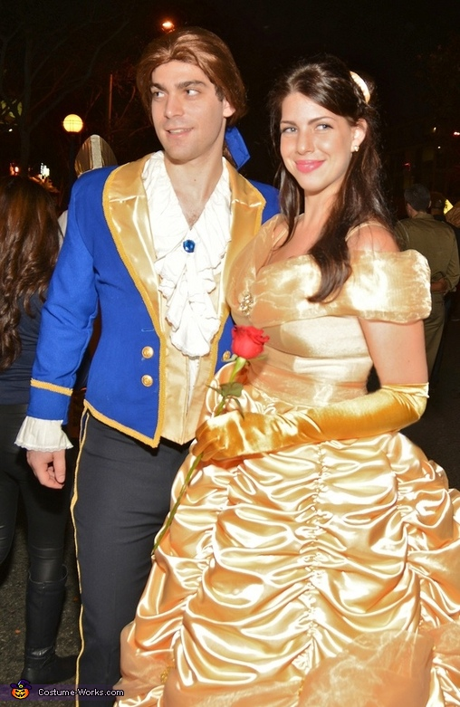 couples halloween costume idea beauty and the beast couple costume