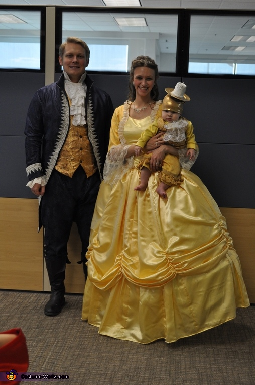 Adam and Belle, Beauty and the Beast with Lumiere Costume