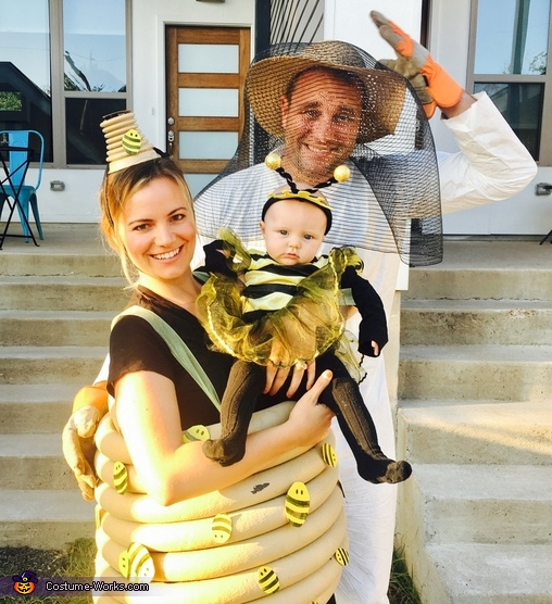 """Quinn Bee"", her Bee Hive and Bee Keeper Costume"