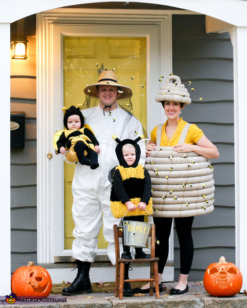 Beehive and Beekeeper Family Costume