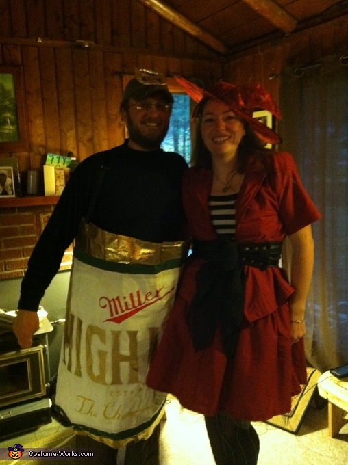Miller High Life Beer Can and Girl in the Moon Couple Costume