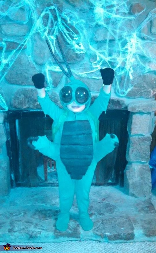 Here is the front of this costume. Notice how all the legs move together., Beetle Costume