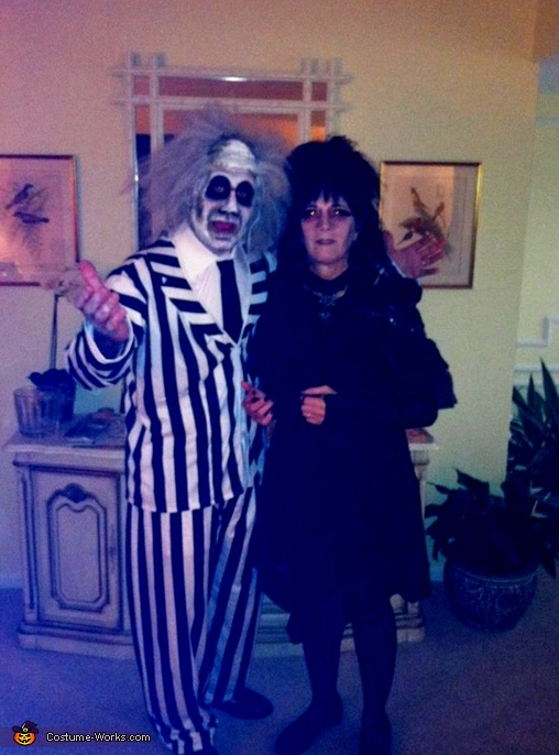 Beetlejuice and Lydia Couple Costumes