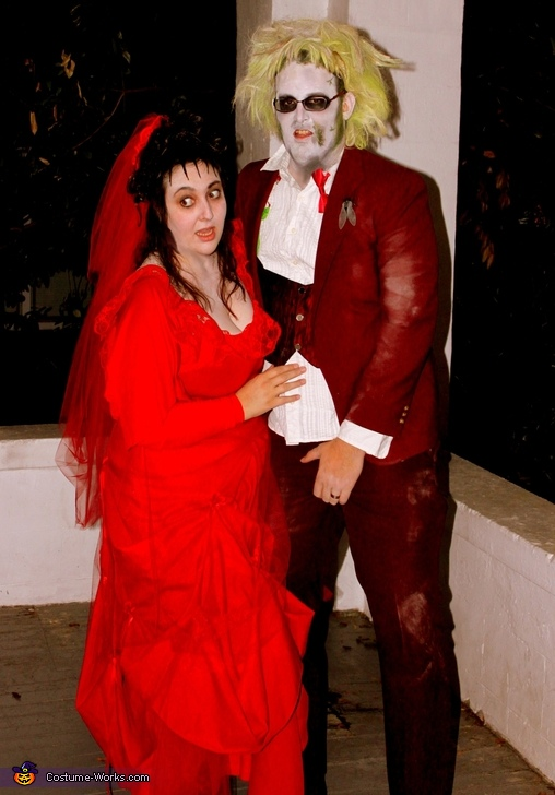 Beetlejuice and Lydia - Homemade costumes for couples