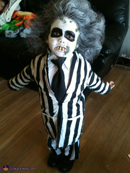 Homemade Beetlejuice Costume For Kids