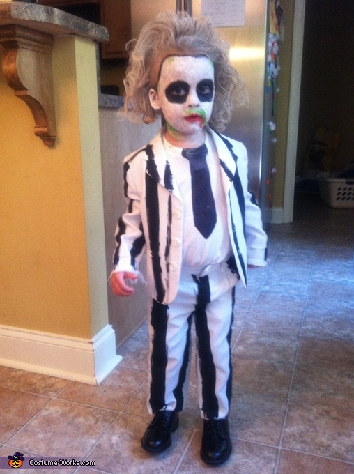 Beetlejuice Costume For A Boy Photo 4 5