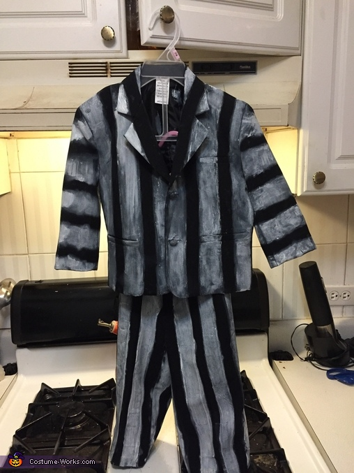 Finished suit, Beetlejuice Baby Girl's Costume