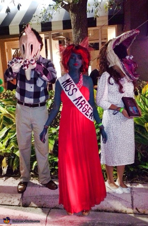 Daleon Chase costume with Miss Argentina, Beetlejuice Adam and Barbara Maitland Costume