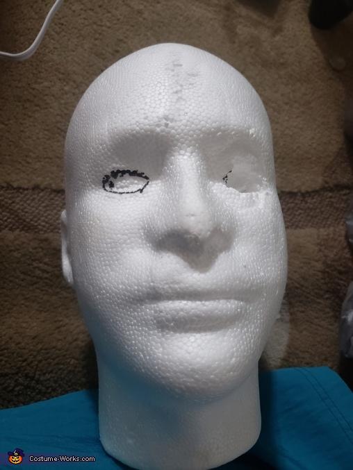 styrofoam head, Beetlejuice and Bride Lydia Costume