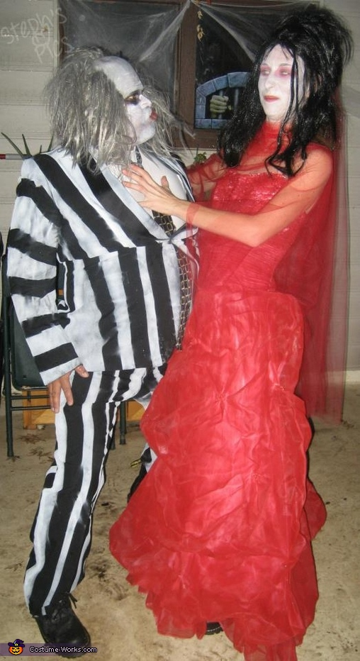 Beetlejuice and Lydia Couple Costume
