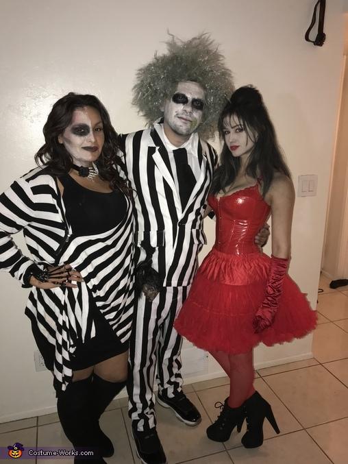 Beetlejuice and Lydia Deetz Homemade Costume