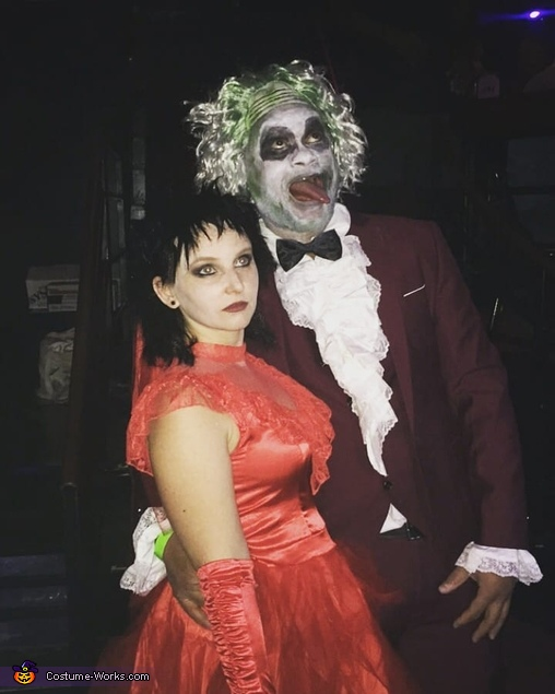 Beetlejuice And Lydia Deetz Wedding Costume