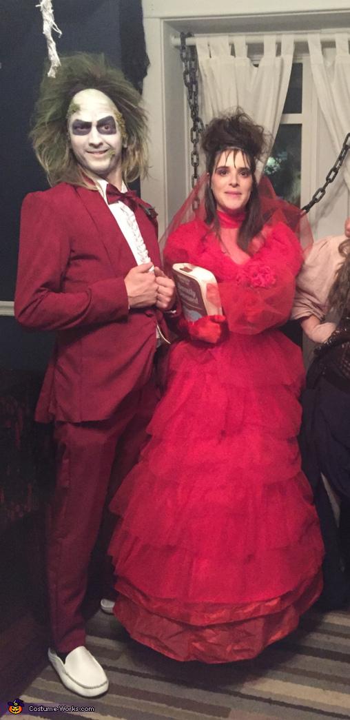 Beetlejuice and Lydia Deetz Wedding Costume