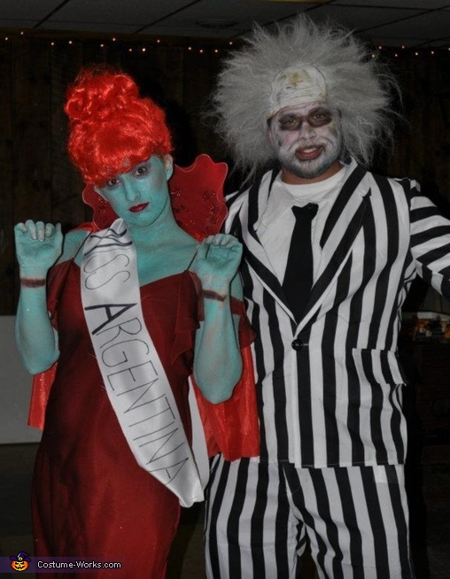 Beetlejuice And Miss Argentina Couple Halloween Costume Idea Coolest Diy Costumes