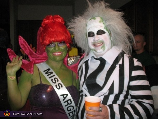 Miss Argentina and Beetlejuice, Beetlejuice and Miss Argentina Costume