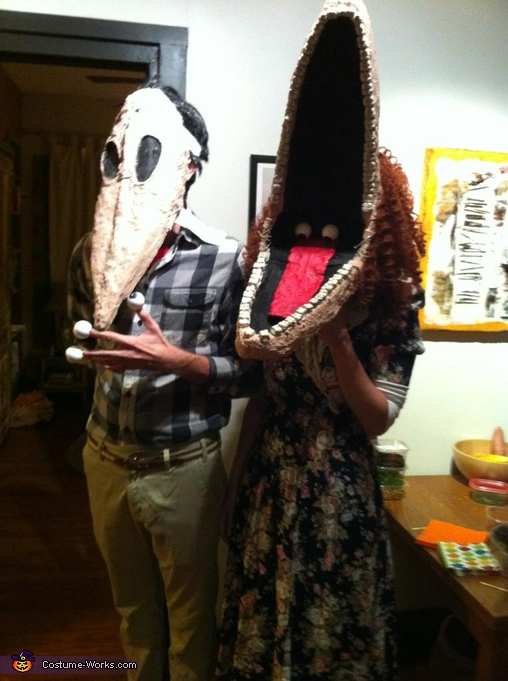 Barbara and Adam Maitland from Beetlejuice - Homemade costumes for adults